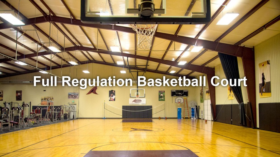 Full Regulation Basketball Court